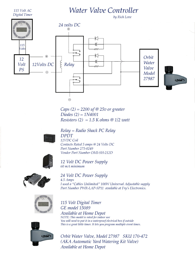 Richs Water Valve Controller 12volttimercircuitjpg The Circuit And Components